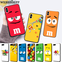 WEBBEDEPP M&Ms Chocolate Silicone soft Case for iPhone 5 SE 5S 6 6S Plus 7 8 11 Pro X XS Max XR