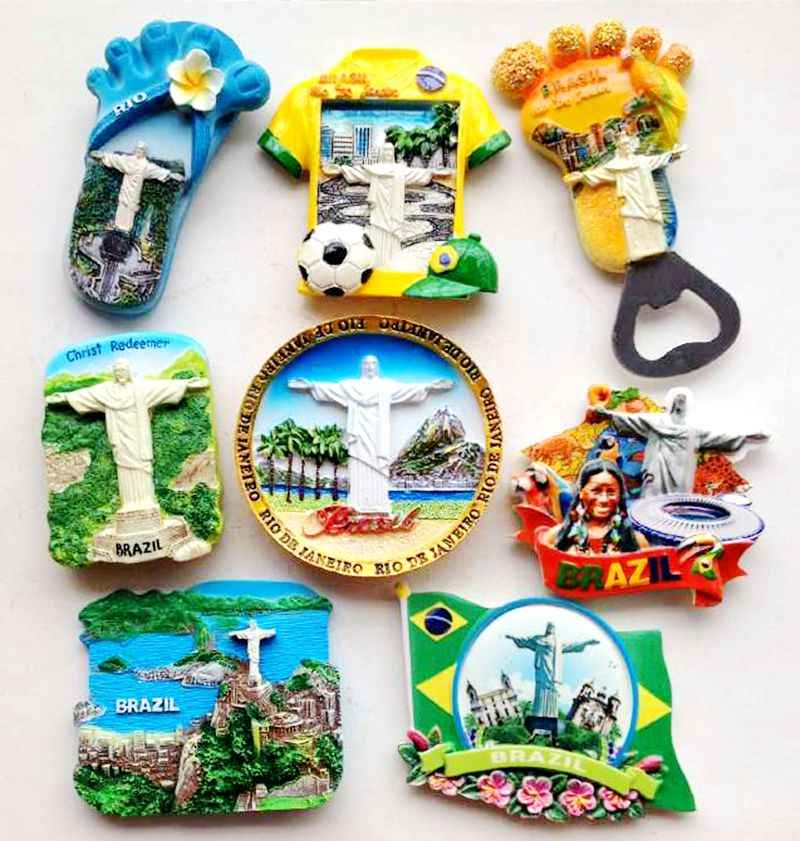 South America Travel Cool Gift #4628 Venezuela Brazil Classic Fridge Magnet