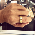 Woman Men Finger Ring Stainless Steel Arabic Numerals Knuckle Ring Luxury Jewelry Creative Accessories Letters Engraved Ring
