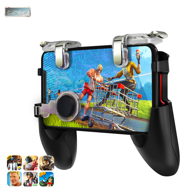 2019 NEW For Pubg Game Gamepad For Mobile Phone Game Controller l1r1 Shooter Trigger Fire Button For IPhone For Free Fire