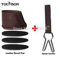 Tourbon Hunting 12 Loops Real Leather Birds Hanger Duck Strap Game Carrier Heavy Duty