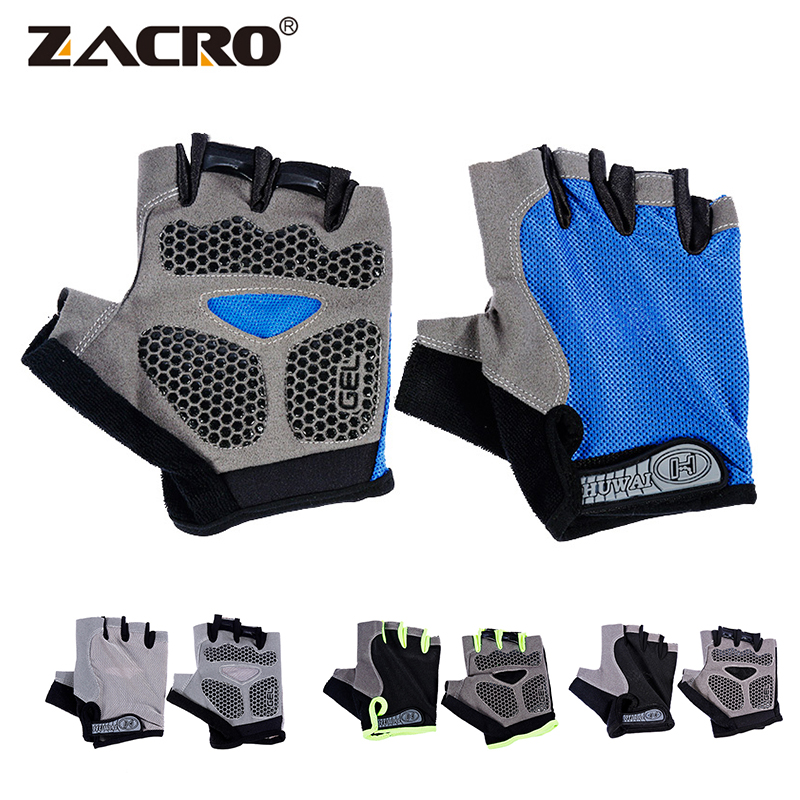 Zacro Cycling Gloves Anti-slip Men Women Half Finger Gloves Breathable Summer Sports Gloves GEL MTB Bike Bicycle Glove L XL coolchange cycling gloves half finger shockproof breathable gel bike gloves mtb mens women s sports anti slip bicycle gloves