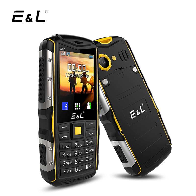 E L S600 IP68 2G GSM Mobile Phone Dual SIM Card 2 4 Inch 32MB RAM