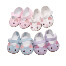 Cute 18 Inch American Girl Doll Cat leather shoe For 43cm Baby Born Doll  Mini Shoes 23004cffc19a