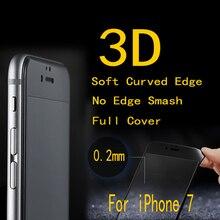 10 шт./лот FENGHEMEI 3D углеродное волокно рамка Полное покрытие закаленное стекло протектор для iPhone 7 8 7 Plus без розничной упаковки