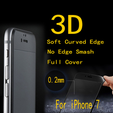 10pcs/lot FENGHEMEI 3D Cabon Fiber Frame Full Cover Tempered Glass Protector For iPhone 7 8 7 Plus Without Retail Package