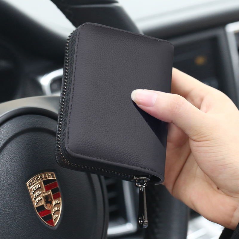 Fashion Women Bank Card Package Travel Mini Coin Bag Wallets Genuine Leather Men Busines ...