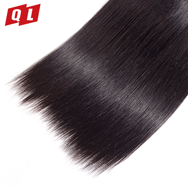 QLOVE HAIR Brazilian Human Hair Straight Bundles Natural Color Human Hair Extensions 8-26 Inches Weave Non Remy Free Shipping