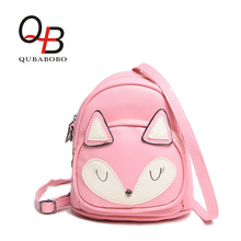 QUBABOBO Brand Lovely Baby Backpacks With Cartoon Character of Mouse Cat Fox Leather MINI Daypacks Bag Girl Backpack FBT0000381