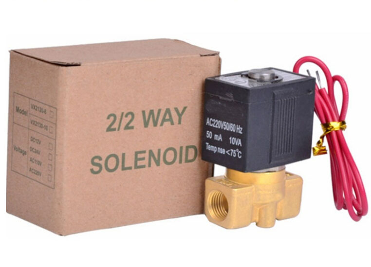 1/4  2/2 way Normally closed type air,water.steam,gas brass solenoid valve DC12V,DC24V,AC24V,AC110V,AC220V,AC380V