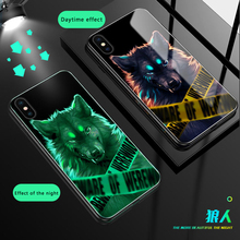 Luminous Glass Case For Xiaomi MI8 8SE 6X 5X MIX2 MXI2S Mi Note3 back Cover For
