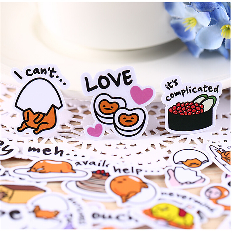 40pcs Creative Kawaii Self-made  Egg Food Stickers Beautiful Stickers /decorative Sticker /DIY Craft Photo Albums