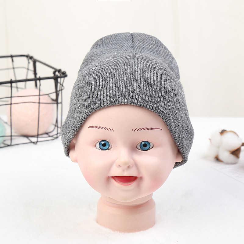 หมวกเด็ก 2019 ใหม่ฤดูใบไม้ร่วงฤดูหนาว Warm Unisex เด็กทารกเด็กผู้หญิงเด็กทารกที่มีสีสันผ้าฝ้ายนุ่มน่ารักหมวกหมวก Beanie