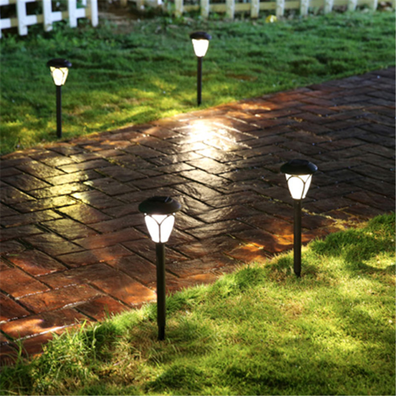 Waterproof LED Solar Panel Inserted Lawn Lights Garden Outdoor Path Street Lamp New Year Energy Saving Garland Decoration