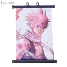Lychee Japan Anime Fairy Tail Natsu Poster Canvas Scroll Painting Home Wall Print Modern Art Decor Poster(China)