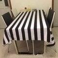 Personalizado simples moderno preto e branco listrado lona pano de mesa toalha de mesa de pano muitos tamanhos frete grátis