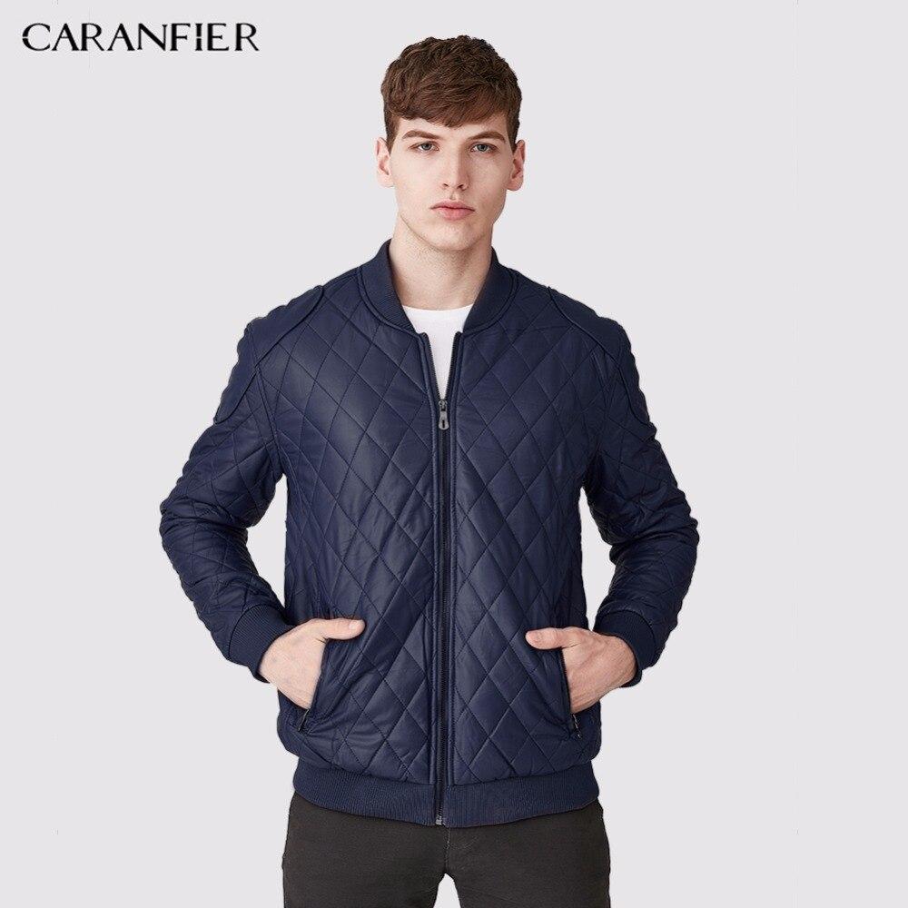 CARANFIER Новый Для мужчин высокое качество Искусственная кожа куртка в клетку модные мужские теплые черные Повседневное бизнес Для мужчин Сти...