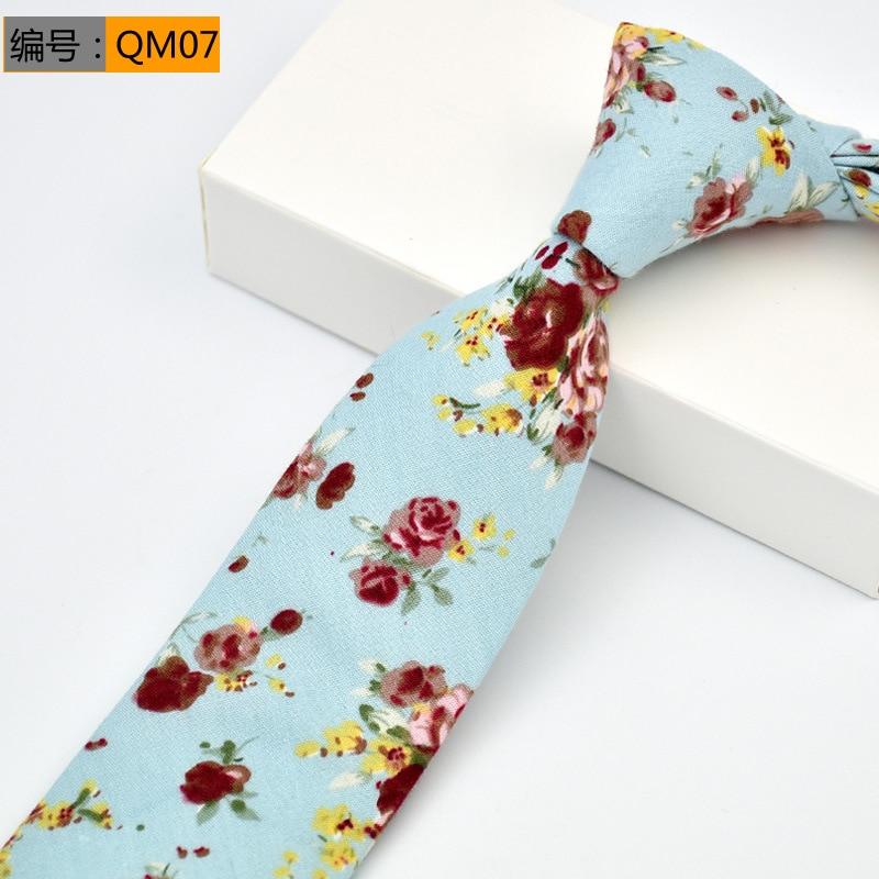 2019 New Fashion Ties for Men 100 Cotton Tie Floral Printing Classic Mens Necktie Business Casual Vintage Gravatas Neck ties in Men 39 s Ties amp Handkerchiefs from Apparel Accessories