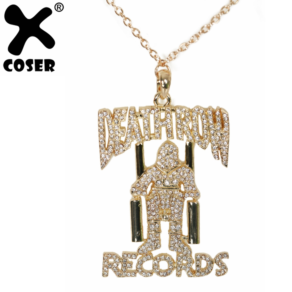 XCOSER Cosplay Prop All Eyez on Me Movie Cosplay Tupac Amaru Shakur Tin Necklace Cosplay Costume Accessory