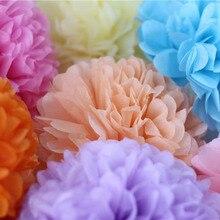 5pcs 20cm Multiple Colors Tissue Paper Pom Poms Flower Balls Party Wedding Home Birthday Supplies Decorations
