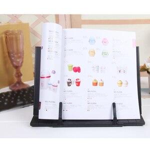 Image 2 - Przenośny notatnik stojak do czytania uchwyt biurkowy z 7 regulowanymi rowkami, czarny
