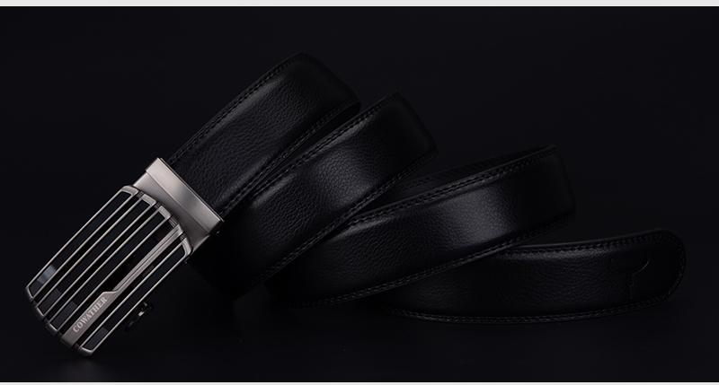 حزام COWATHER جلد طبيعي للرجال ذو جودة عالية 7