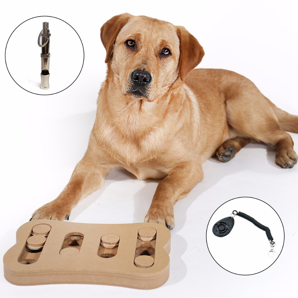 Interactive Toys For Dog Bone Shape Funny Game Pet Brain IQ Training With Whistle Hide And Seek Food Non-toxic Healthy Toys image