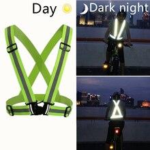2 шт велосипедный жилет ночной светоотражающий эластичный ремень безопасный Би велосипедный жилет велосипедные аксессуары