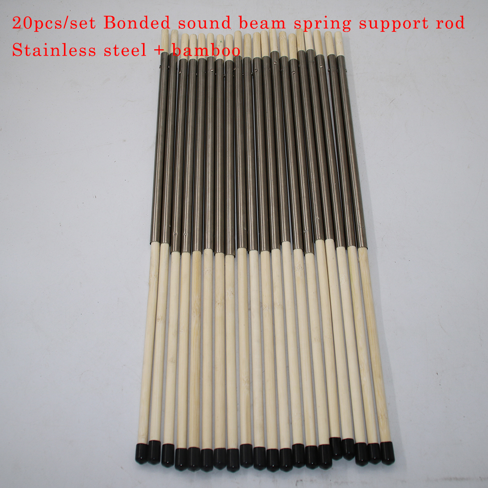 20pcs set Bonded Sound Beam Spring Support Rod Stainless Steel Bamboo Retractable Support Beam DIY Guitar