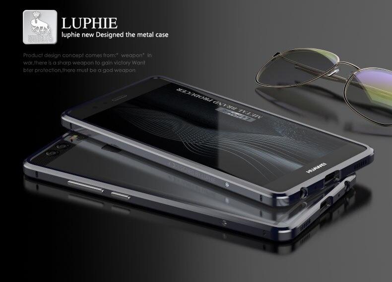 Цена за Huawei P9 чехол бампер с Кожа Телефон задняя крышка стикер роскошь изысканные вырезать металлический чехол для телефона бампер для Huawei Ascend P9