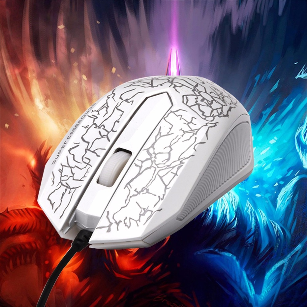IN STOCK! Small Special Shaped 3 Buttons USB Wired Luminous Gamer Computer Gaming Mouse IN STOCK