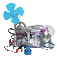 Single Cylinder Stirling Engine Model With Bulb And Fan Discovery Educational Toy Gift For Kid Children Adult Random Bulb Color