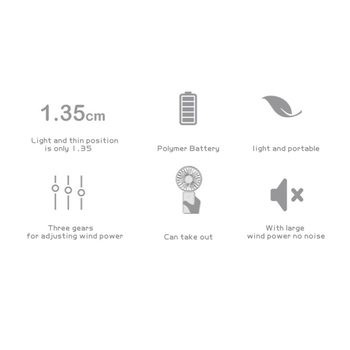 Ricaricabile Usb Tenuto In Mano Portatile Mini Ventilatore Terza Marcia Silenziosa Forte Vento Personale Ventole Di Raffreddamento Di Aria Portatile