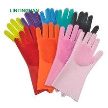 Gloves dishwashing artifact housework insulation silicone gloves kitchen cleaning brush spot