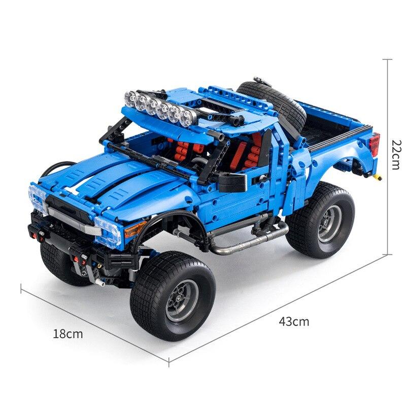 1288 pièces Hot Technic série F-150 Raptor pick-up voiture voitures de course modèle blocs de construction compatibles briques classiques