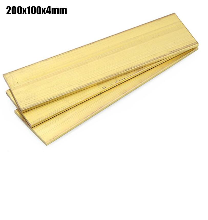 ФОТО 100x200x4mm high tenacity Brass Plate Rivet nut Thin slice Brass paper Block sheet 1 piece