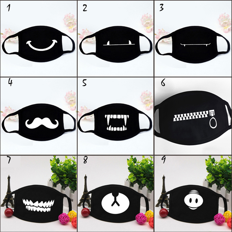 IMucci Fashion Face Mouth Mask Unisex  Camouflage Mouth-muffle Unisex Respirator Stop Air Pollution Cartoon Lovely Cotton Mask