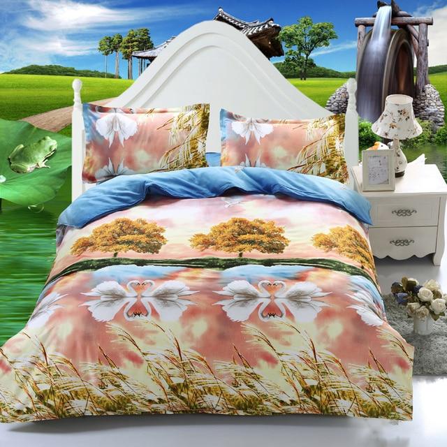 Perfect 3D Wholesale Bedding Set Hot Sale Online Shopping 4pcs Rose Comforter Set  Quilt Cover Bed Linen