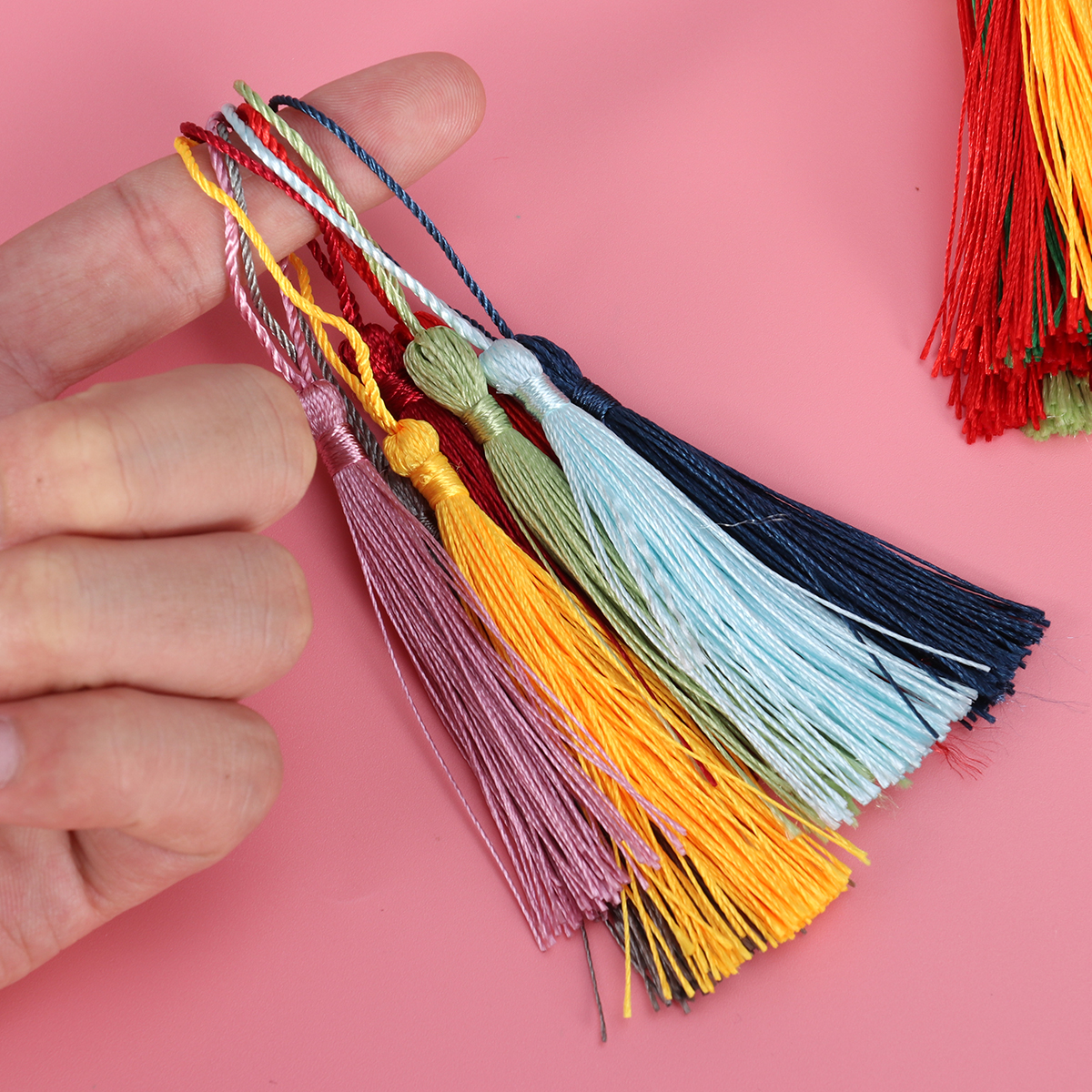 100PCS Assorted Color Silky Tassels for Bookmark Gift Souvenir Jewelry Earring