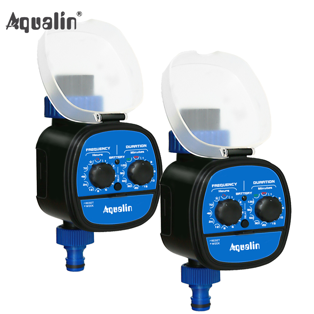 2pcs High Quality Ball Valve Electronic Automatic Garden Home Irrigation System Water Timer With Delay Function