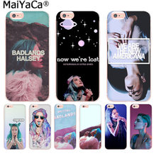 MaiYaCa couleurs Halsey paroles Badlands couverture de téléphone de haute qualité pour iphone 11 pro 8 7 66S Plus X 5S SE XS XR XS MAX(China)