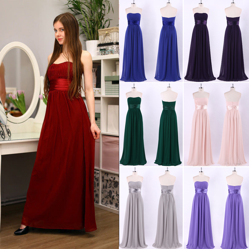 Long   Evening     Dress   Ever Pretty Elegant Sleeveless Burgundy Black Woman 12 Colors Maxi Chiffon 2018 Fast Shipping Vestidos   Dress