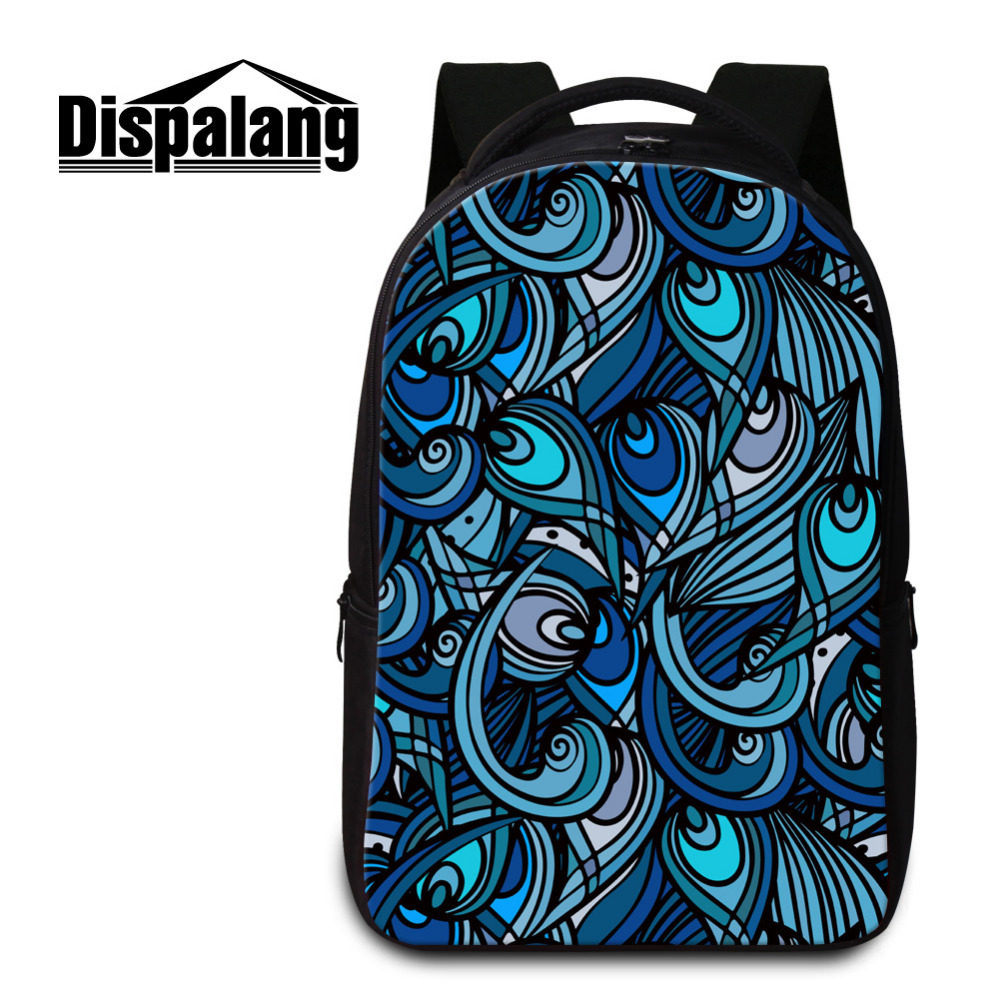 ФОТО Dispalang Brand Laptop Backpack Women Striped Print Notebook Backpack Large Capacity School Bags Mens Casual Travel Shoulder Bag
