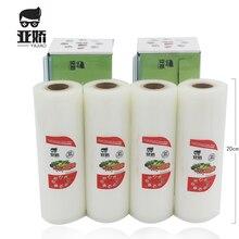 YAJIAO Cibo Vacuum Sealer Bag 20cm * 500 centimetri con Lama di Taglio Box Per Sigillatore di Vuoto Cibo Fresco Cucina mantenere a lungo La Borsa di Stoccaggio