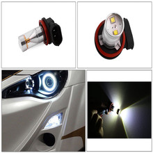 H8 LED High Power 30W 6LED Super Bright Pure White Fog Tail Driving Car Light Bulb Lamp DC12V Fog Lamp Shine Way at Night
