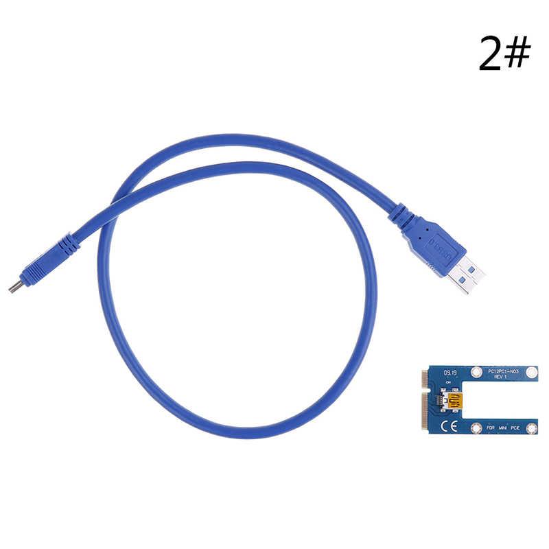 60 Cm USB 3.0 Mini PCI-E untuk Pcie PCI Express 1x untuk 16X Extender Riser Kartu Adaptor Kabel Ekstensi untuk bitcoin BTC Pertambangan