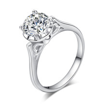 CZ Jewelry Fashion Rings for Women wedding Engagement Jewelry 925 sterliRing Zirconia Paved Silver Plated For Birthday gift