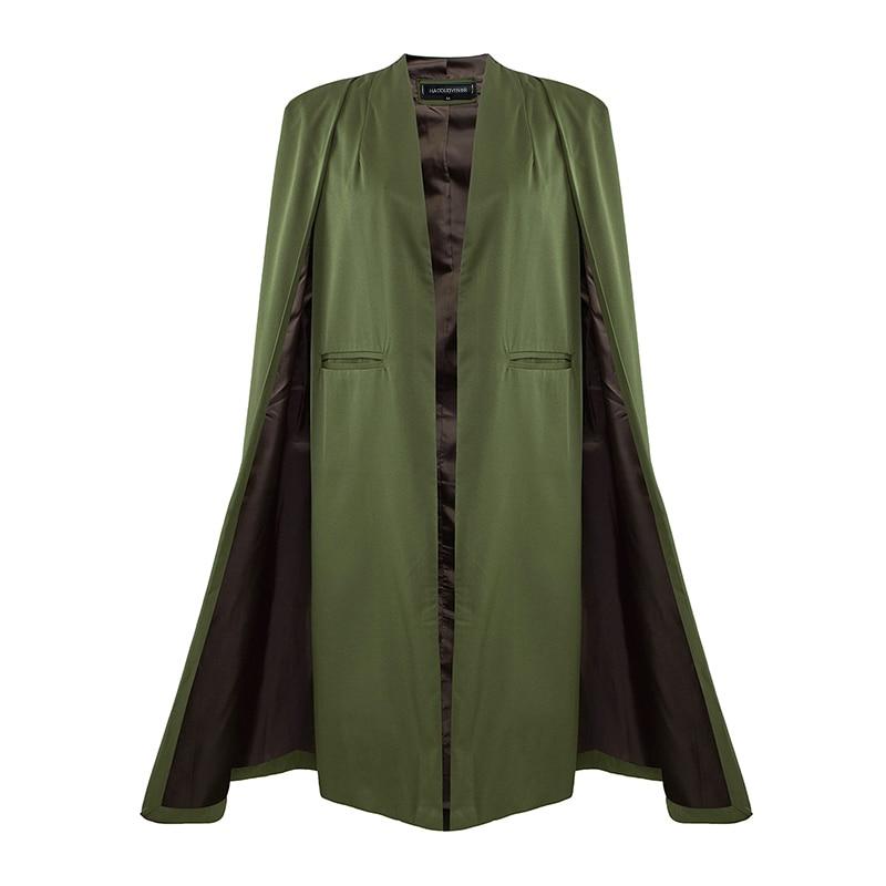 HDY Haoduoyi 2016 Осень Женская Мода 3 Цвета Открытым Стежка Плащ Пончо Плащи Outwears Пальто