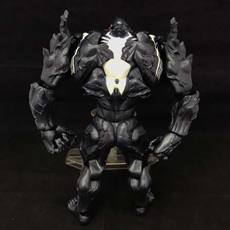 Marvel selecionar veneno figura de ação brinquedos 18cm eddie brock veom estatueta ação pvc plástico modelo estátua coleções adultos brinquedos