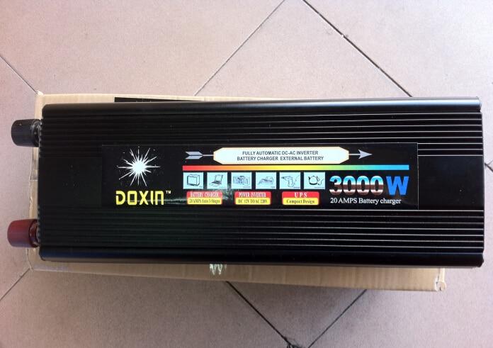 цена на High quality TBE 3000W 12V Car Converter DC 12V TO AC 220V Peak Power 6000W Car Power Inverter 3000W Adapter Modified sine wave